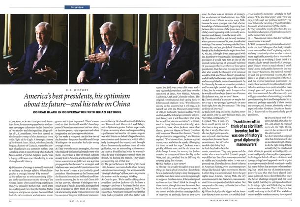 Article Preview: America's best presidents, his optimism about its future—and his take on China, May 2013 | Maclean's