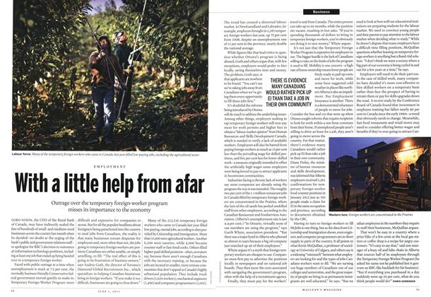 Article Preview: With a little help from afar, June 2013 | Maclean's