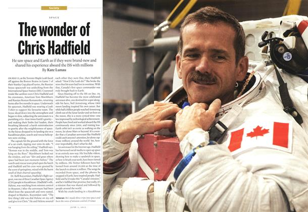 Article Preview: The wonder of Chris Hadfield, June 2013 | Maclean's