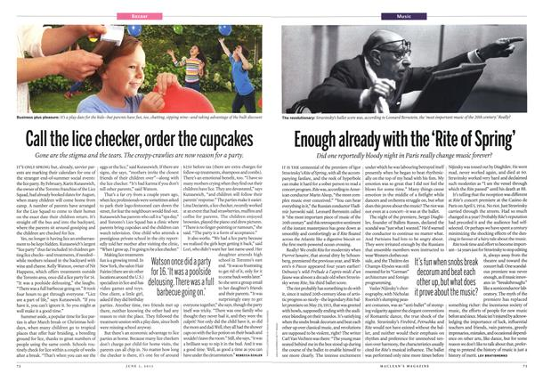 Article Preview: Call the lice checker, order the cupcakes, June 2013 | Maclean's