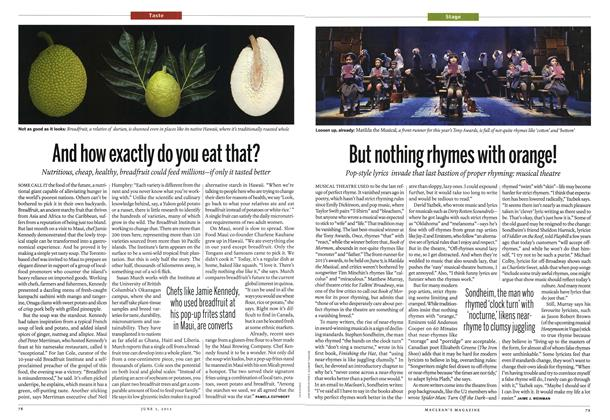 Article Preview: But nothing rhymes with orange!, June 2013   Maclean's