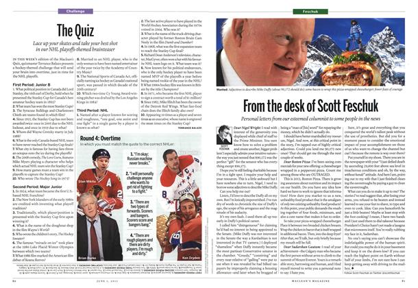 Article Preview: From the desk of Scott Feschuk, June 2013 | Maclean's