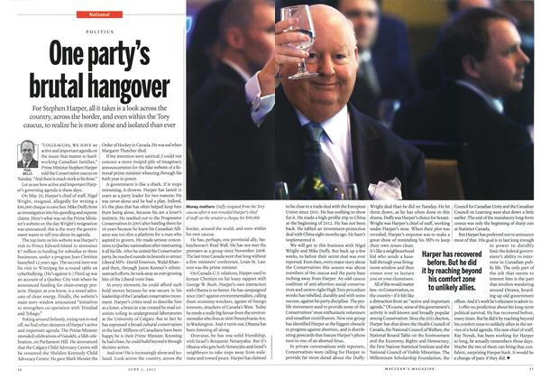 Article Preview: One party's brutal hangover, June 2013 | Maclean's