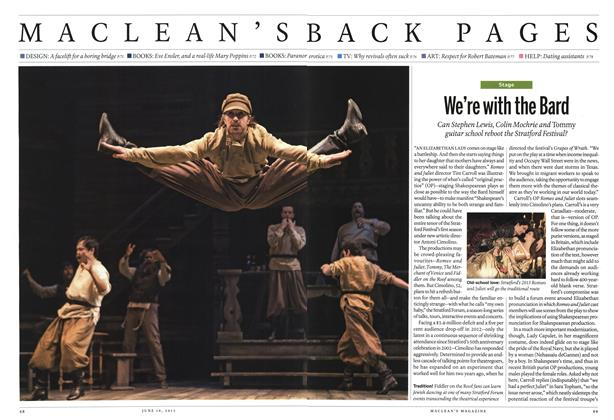 Article Preview: We're with the Bard, June 2013 | Maclean's