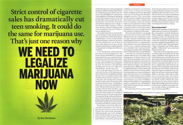 Article Preview: WE NEED TO LEGALIZE MARIJUANA NOW, June 2013 | Maclean's