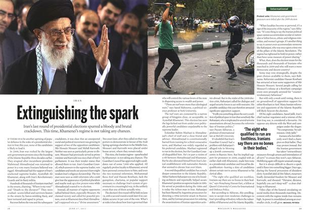 Article Preview: Extinguishing the spark, June 2013 | Maclean's