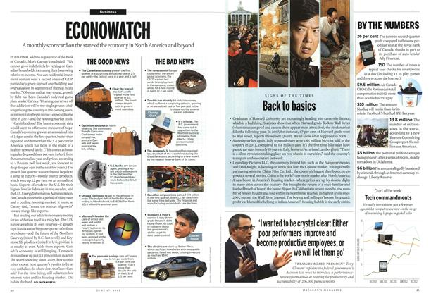 Article Preview: ECONOWATCH, June 2013 | Maclean's