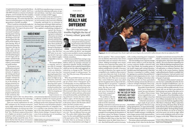 Article Preview: THE RICH REALLYARE DIFFERENT, June 2013 | Maclean's