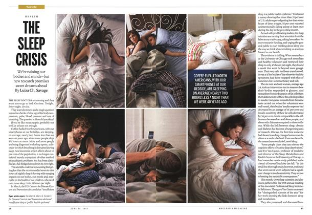 Article Preview: THE SLEEP CRISIS, June 2013 | Maclean's