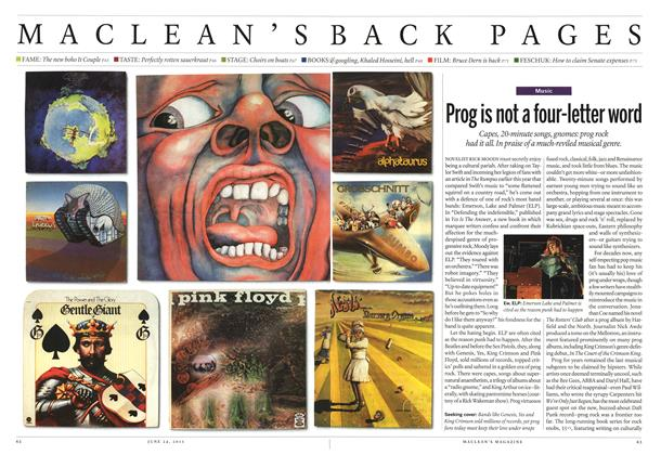 Article Preview: Prog is not a four-letter word, June 2013 | Maclean's