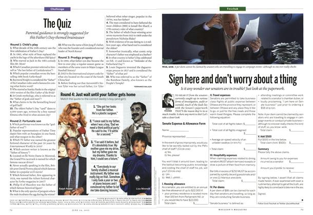 Article Preview: The Quiz, June 2013 | Maclean's