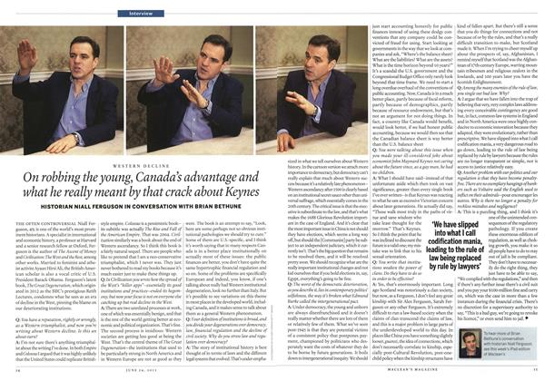 Article Preview: On robbing the young, Canada's advantage and what he really meant by that crack about Keynes, June 2013 | Maclean's