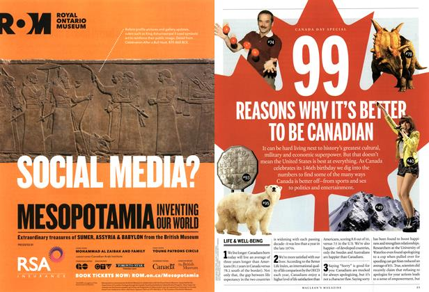 Article Preview: 99 REASONS WHY IT'S BETTER TO BE CANADIAN, July 2013 | Maclean's