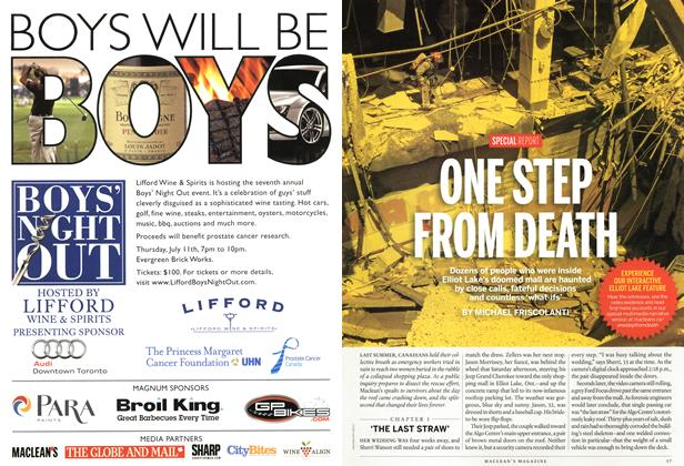 Article Preview: ONE STEP FROM DEATH, July 2013 | Maclean's