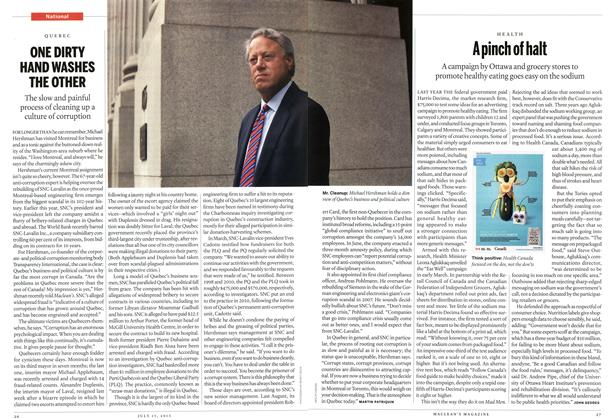 Article Preview: ONE DIRTY HAND WASHES THE OTHER, July 2013 | Maclean's