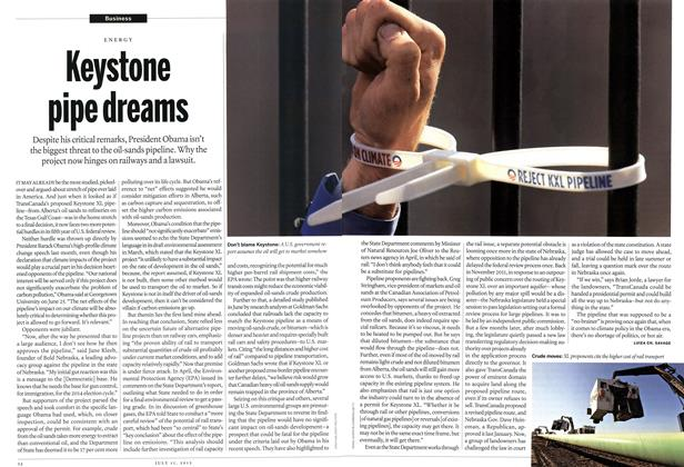 Article Preview: Keystone pipe dreams, July 2013 | Maclean's