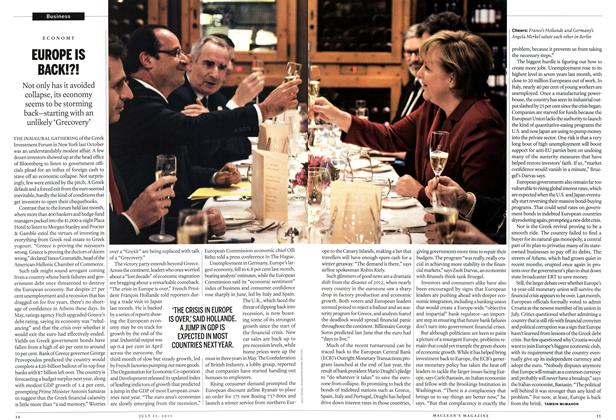 Article Preview: EUROPE IS BACK!?!, July 2013 | Maclean's