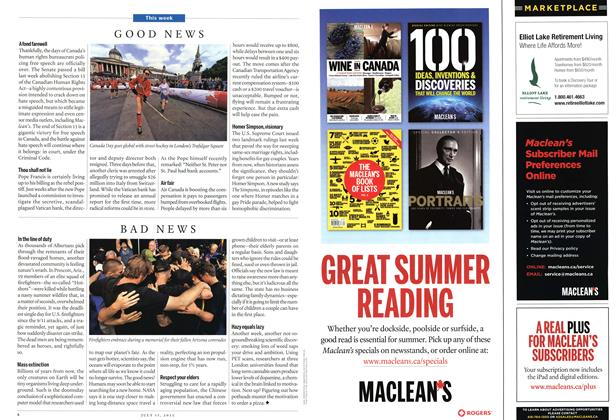 Article Preview: Good News/Bad News, July 2013 | Maclean's