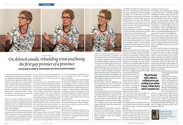 Article Preview: On deleted emails, rebuilding trust and being the first gay premier of a province, July 2013 | Maclean's