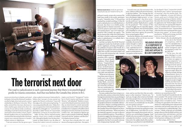 Article Preview: The terrorist next door, July 2013 | Maclean's