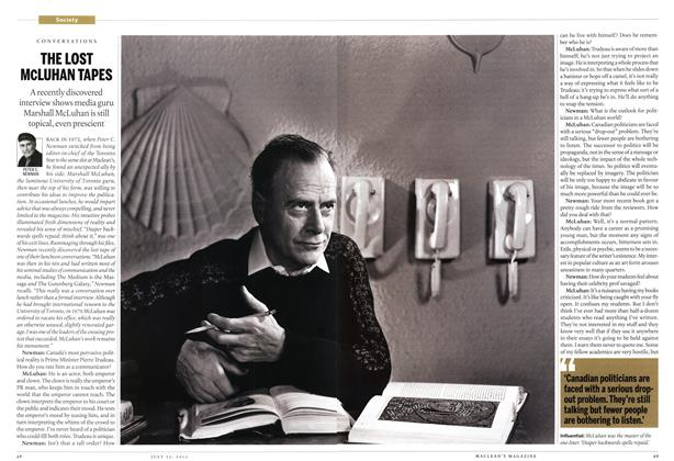 Article Preview: THE LOST McLUHAN TAPES, July 2013 | Maclean's