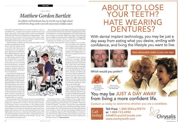 Article Preview: Matthew Gordon Bartlett, July 2013 | Maclean's