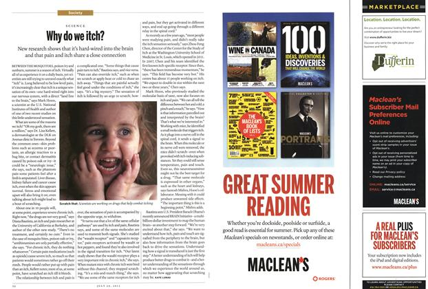 Article Preview: Why do we itch?, July 2013 | Maclean's