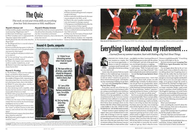Article Preview: The Quiz, July 2013 | Maclean's