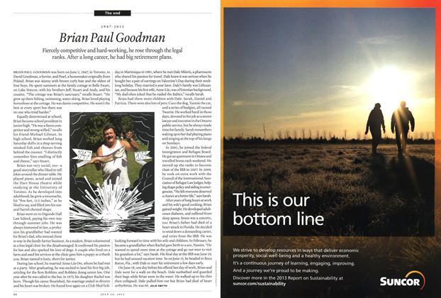 Article Preview: 1947-2013 Brian Paul Goodman, July 2013 | Maclean's