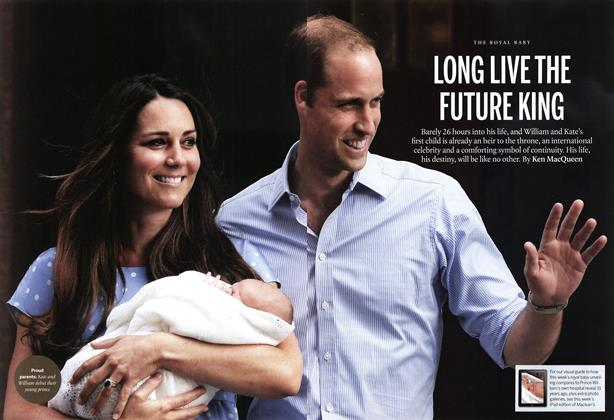 Article Preview: LONG LIVE THE FUTURE KING, August 2013 | Maclean's