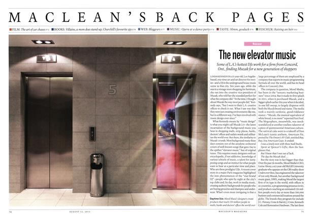 Article Preview: The new elevator music, August 2013   Maclean's