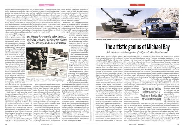 Article Preview: The artistic genius of Michael Bay, August 2013 | Maclean's