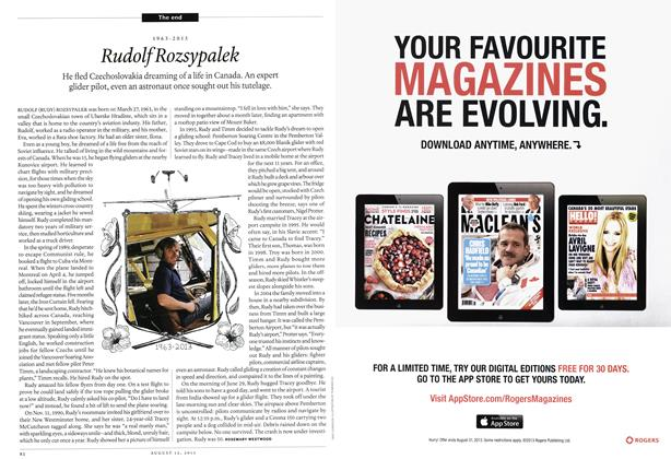Article Preview: Rudolf Rozsypalek, August 2013 | Maclean's