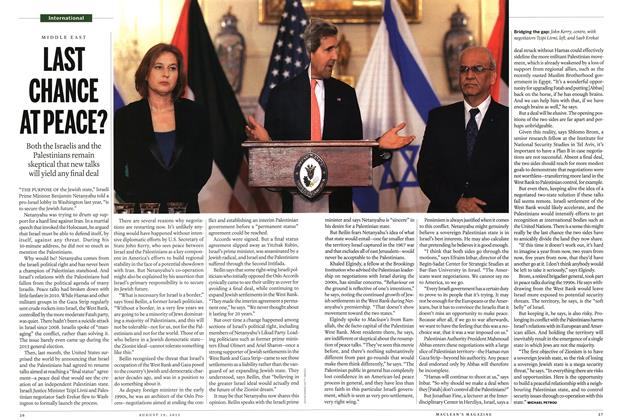 Article Preview: LAST CHANCE AT PEACE?, August 2013 | Maclean's