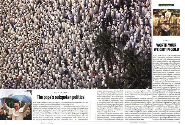 Article Preview: The pope's outspoken politics, August 2013 | Maclean's