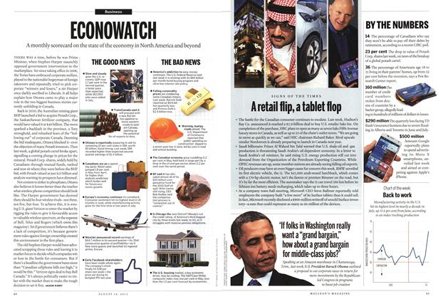 Article Preview: ECONOWATCH, August 2013 | Maclean's