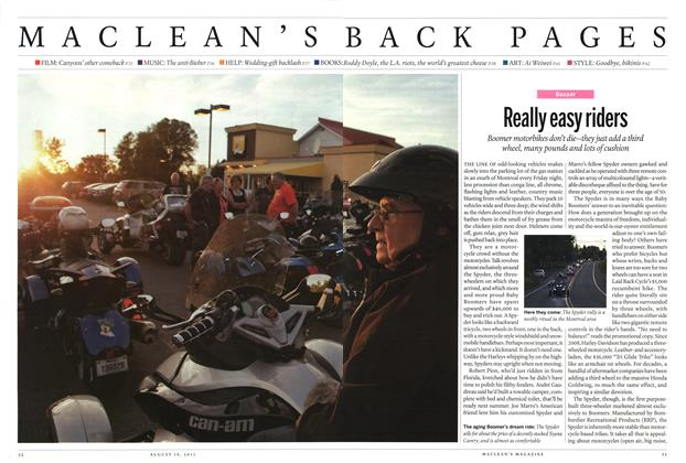 Article Preview: Really easy riders, August 2013 | Maclean's