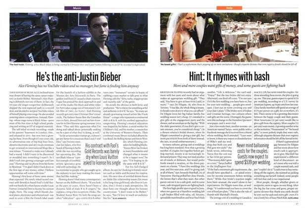 Article Preview: He's the anti-Justin Bieber, August 2013 | Maclean's