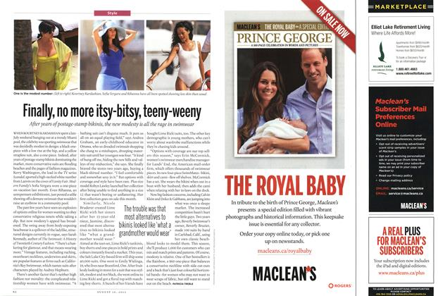 Article Preview: Finally, no more Itsy-bitsy, teeny-weeny, August 2013 | Maclean's