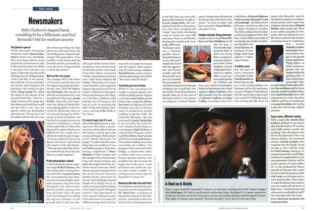 Article Preview: Newsmakers, August 2013 | Maclean's