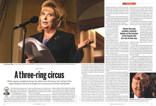 Article Preview: A three-ring circus, September 2013 | Maclean's