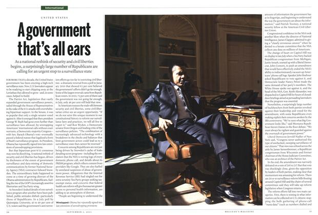 Article Preview: A government that's all ears, September 2013 | Maclean's
