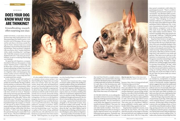 Article Preview: DOES YOUR DOG KNOW WHAT YOU ARE THINKING?, September 2013 | Maclean's