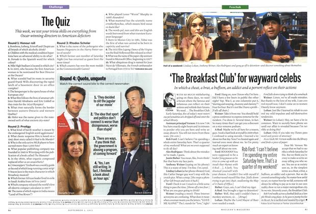 Article Preview: The Quiz, September 2013 | Maclean's
