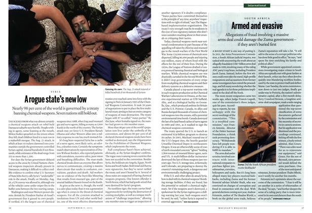 Article Preview: A rogue state's new low, September 2013 | Maclean's