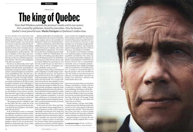 Article Preview: The king of Quebec, September 2013 | Maclean's