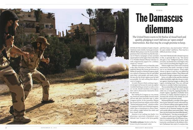 Article Preview: The Damascus dilemma, September 2013 | Maclean's