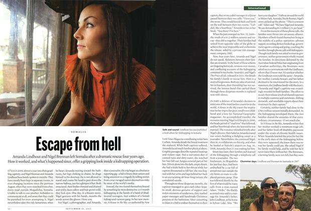 Article Preview: Escape from hell, September 2013 | Maclean's