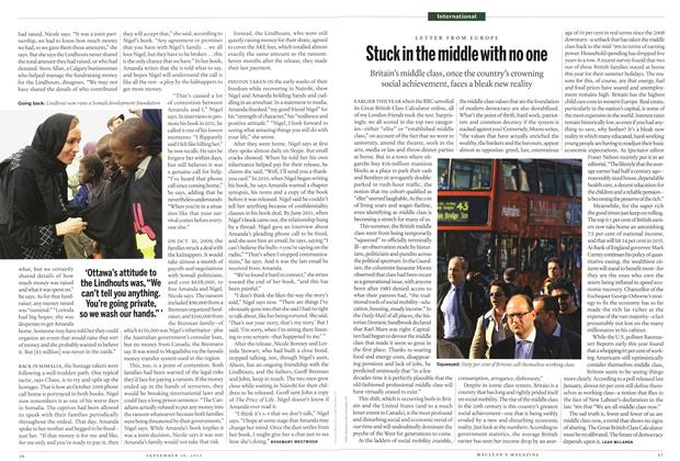 Article Preview: Stuck in the middle with no one, September 2013 | Maclean's