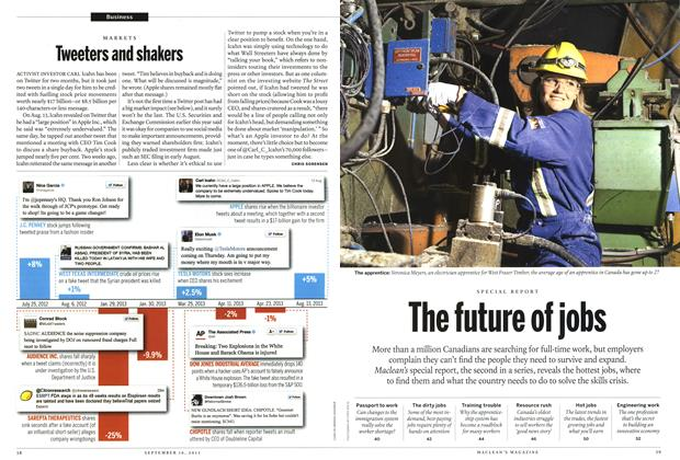 Article Preview: Tweeters and shakers, September 2013 | Maclean's